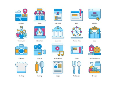 Instagram Highlight Icons instagram highlight instagram story icons grocery restaurant recipe baking cooking sporting goods ticket music video cinema camera zoo theme park museum attraction community shop location