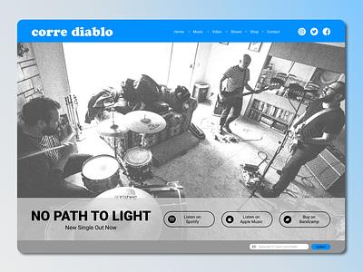 Daily UI 003 Landing Page musician music landing page 003 daily web interface ui dailyui