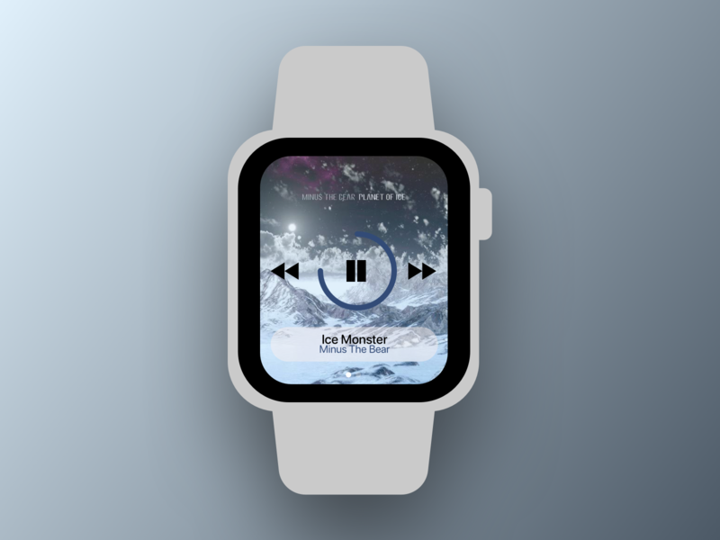 Daily UI 009 Music Player music player apple watch app design 009 ux design daily ui dailyui