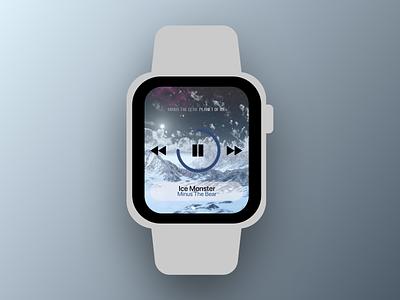 Daily UI 009 Music Player music player apple watch app design 009 ux design daily ui dailyui