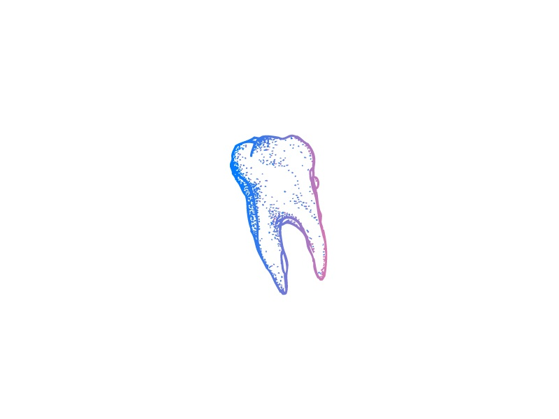 Tooth gradient illustration tooth