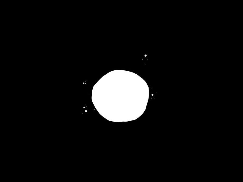 Moon sky night black illustration moon