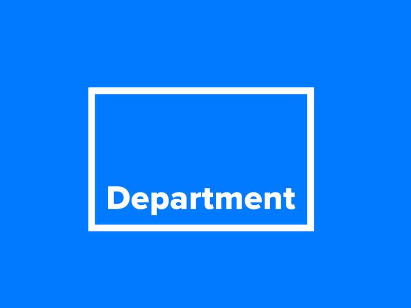 Blue love minimal box typography blue