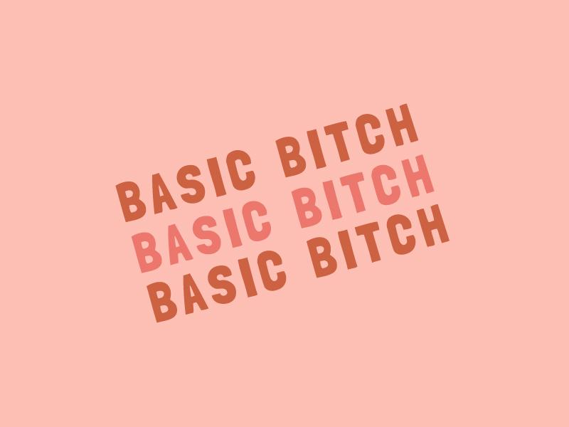 Basic Bitch love pink typography basic bitch