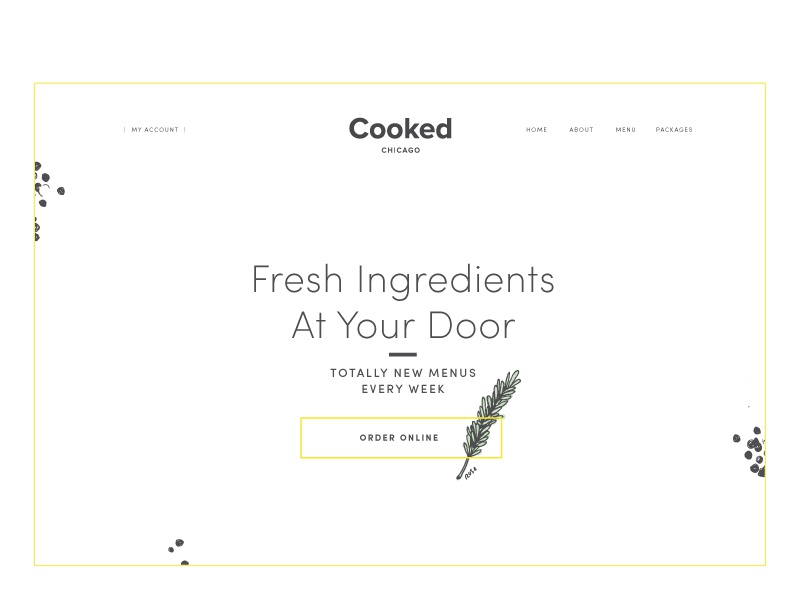Cooked Landing Page Website love magical food illustration typography website web landing