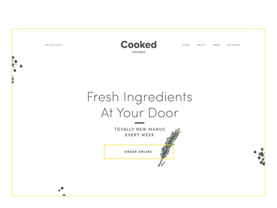 Cooked Landing Page Website