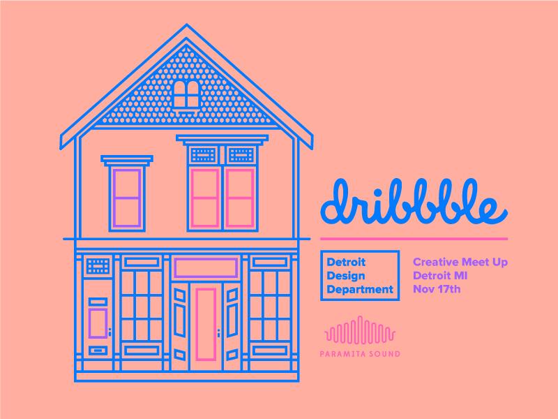 Dribbble Meetup - Detroit magical pastel mono love detroit dribbblemeetup dribbblemeetupdetroit dribbble