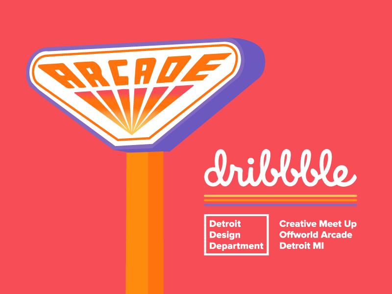 Dribbble Detroit   Meet Up michigan magical design fun love netflix stranger things arcade offworldarcade dribbblemeetup detroit dribbble