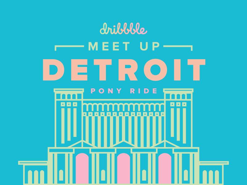 Dribble Meetup Detroit magical pastel ponyride meetup detroit dribbble