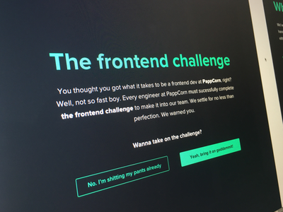 The Frontend Challenge hack frontend ionic challenge