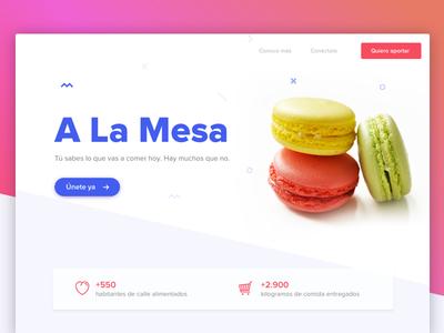 A la mesa - Landing page