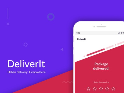 Urban delivery app landing page delivery app hackaton mobile app mobile