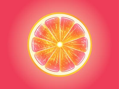 Grapefruit citrus grapefruit fruit design gradient vector illustration