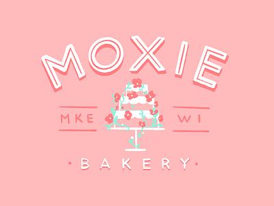 Moxie Bakery branding bakery cake identity logo design procreate illustration