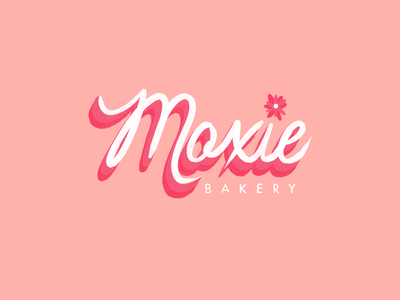Moxie bakery typography lettering branding identity logo