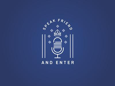 Speak Friend & Enter - refresh fantasy tolkien lord of the rings podcast identity branding logo