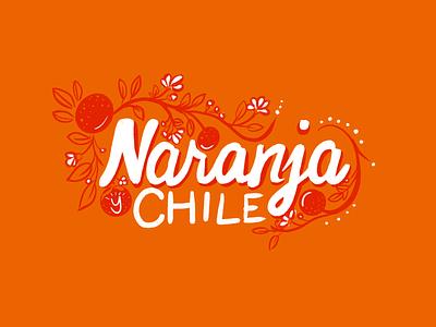 Naranja y Chile identity logo orange lettering