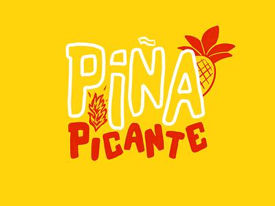 Piña Picante II pineapple identity logo lettering