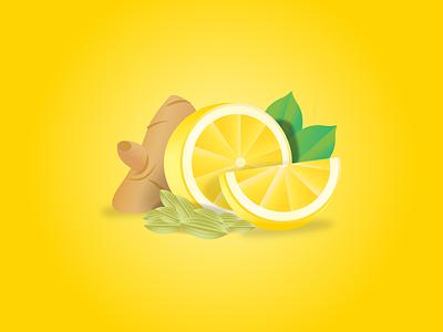 Lemon, Cardamom, Ginger