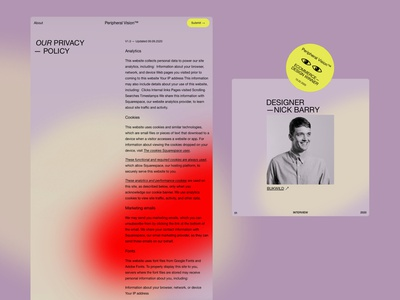 Peripheral Vision™ squarespace shopify mobile ecommerce awards gallery responsive design