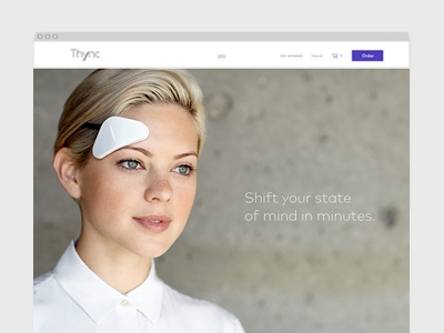 Thync Website product startup responsive design marketing website wearable homepage charactersf.com thync