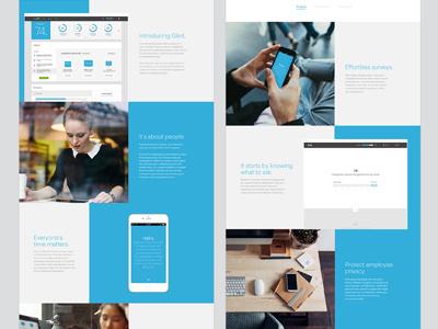Glint Website product design hr art direction mobile character bold colors glint responsive design