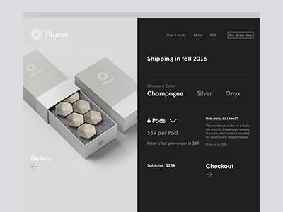 Plume Pre-Order art direction mobile character website layout pre-order responsive design plume