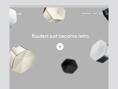 Plume art direction mobile character website layout pre-order responsive design plume
