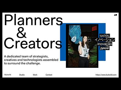Bukwild Layout brand design branding typography layout