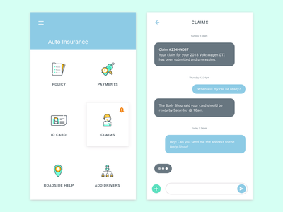 Daily UI #013 chat chat bubble material design chat app dailyui013 dailyui chatbot