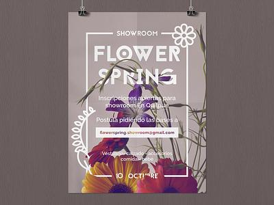 Flower spring Showroom flowers spring poster