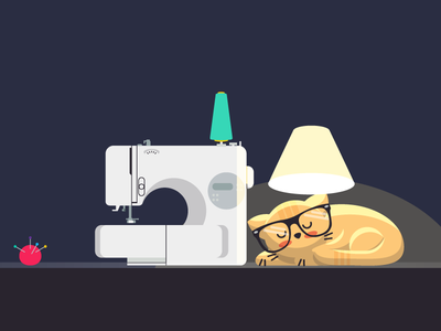 Hero Cuchifu website & fanpage in progress vector cat illustration
