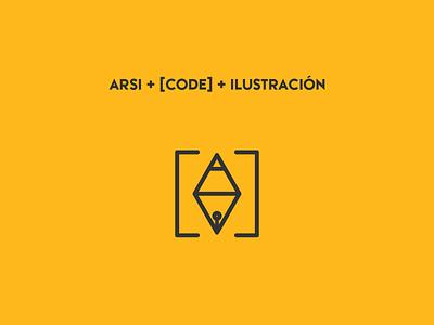 Logotipo personal code web design personal web ilustracion illustration logo