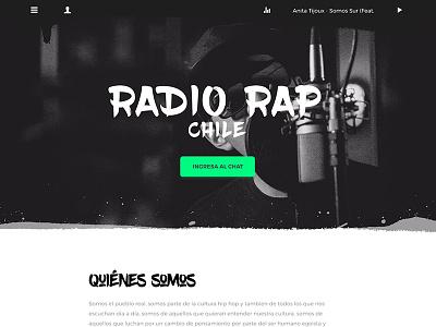 Radio Rap Chile 2017 (Sitio en proceso) web design hip hop rap rap radio hip hop radio radio web
