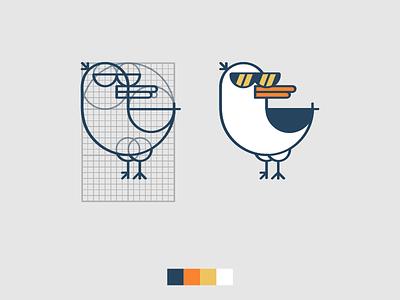 Xeagul 2.0 grid logo grid icon animal vextor