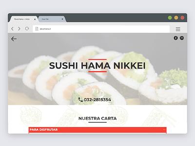 Placerhama webdesign web sandwiches web sushi web website