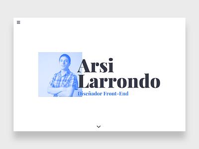 Portfolio above the fold portfolio