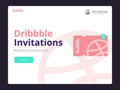 3 Invitations / 3 Invitaciones landingpage landing 100daysofui dailyui webdesigner webdesign portfolio dribbbleinvitation dribbble ui uidesign