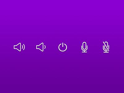 Line Art Icons icons line art speaker power microphone