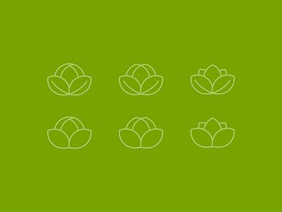 Lotus Icons lotus flower icons line art leaves petals