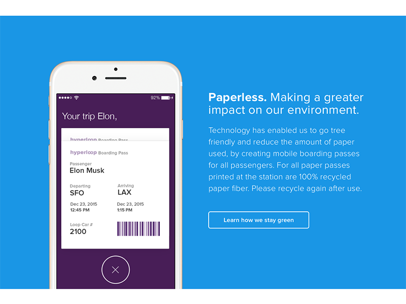 Paperless barcode boarding pass marketing iphone
