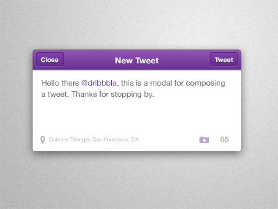 Compose a Tweet tweet twitter compose modal ios purple