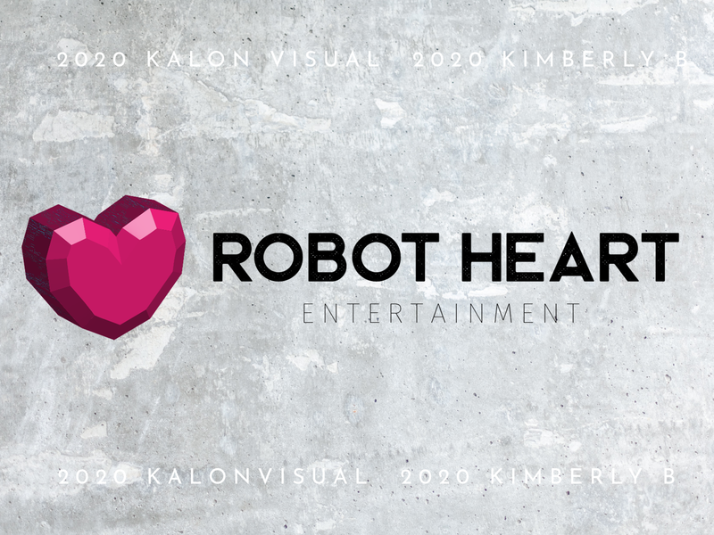 Logo for Robot Heart Ent. typography vector illustrator logo design branding