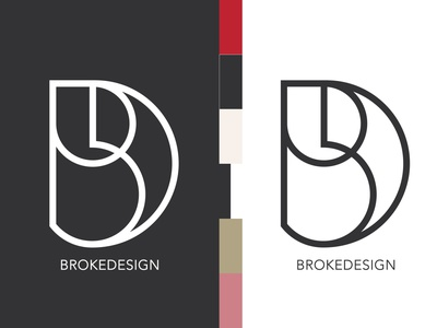 BrokeDesign logo minimal typography clean branding type brand lettering icon logo design