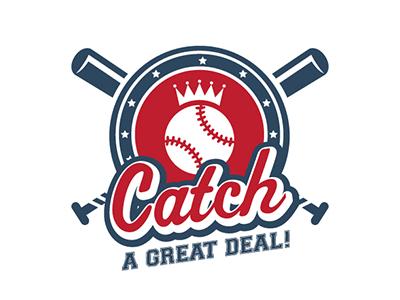 Catch A Great Deal Event Logo version2  baseball logo event design