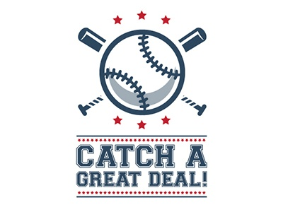 Catch A Great Deal Event Logo version3 baseball logo event design