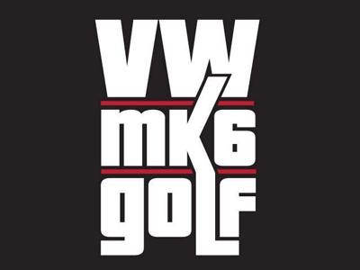 VW Mk6 Golf Logo  mkvi decal sticker mark clean golf volkswagen car logo design