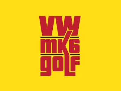 Vw Mk6 Golf Logo german decal sticker mark clean golf volkswagen car logo design