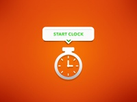 Microinteraction (static) Freelance Time Clock
