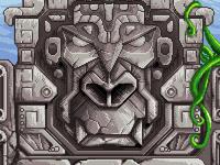 Pixel art monkey sculpture